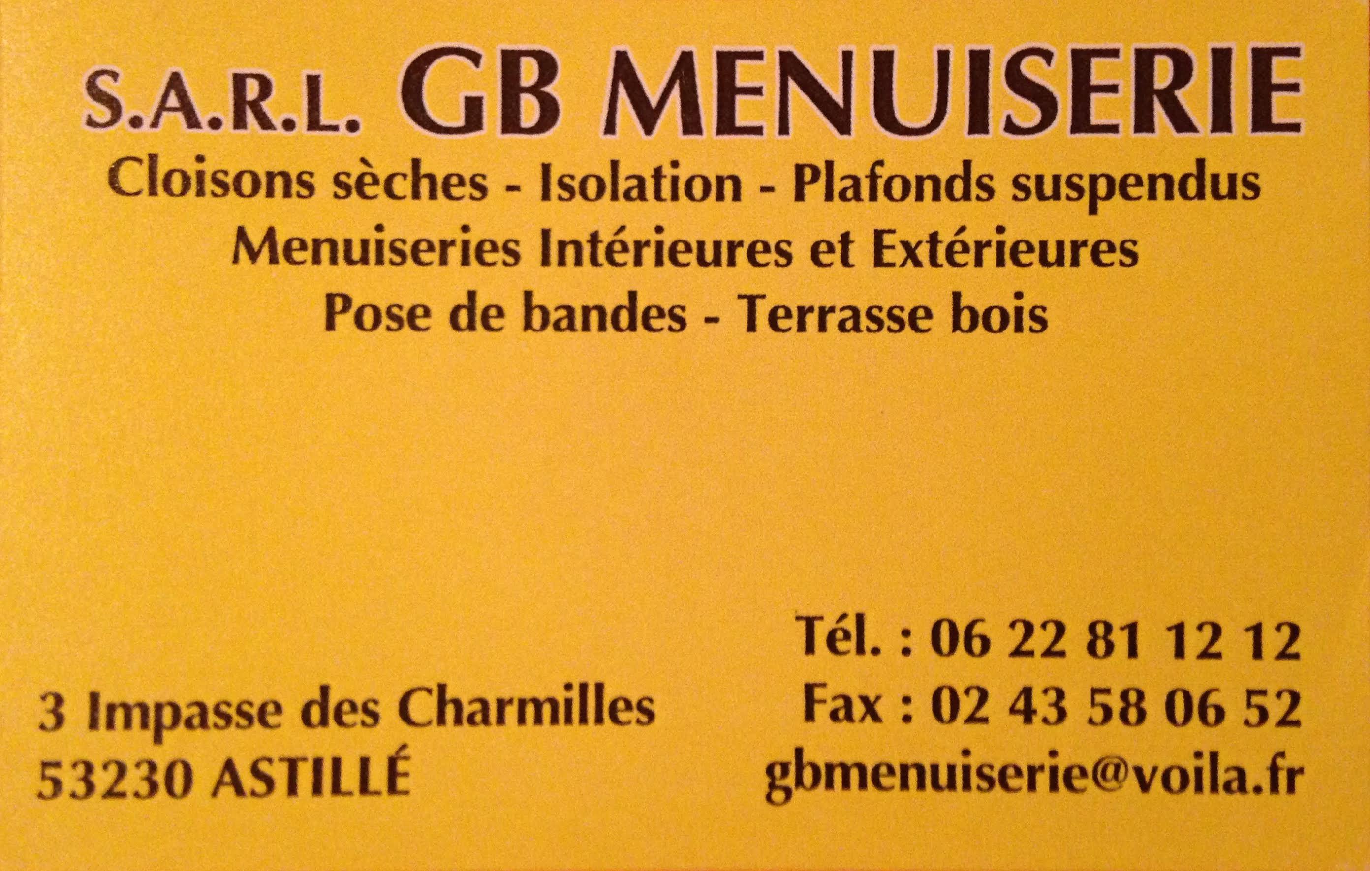 Carte De Visite GB Menuiserie